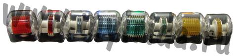 Узкая сменная насадка к мезороллеру 75 титановых игл, синий цвет