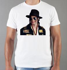 Футболка с принтом Майкл Джексон (Michael Jackson) белая 007