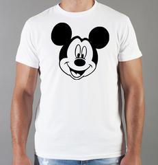 Футболка с принтом Микки Маус (Mickey Mouse) белая 0019