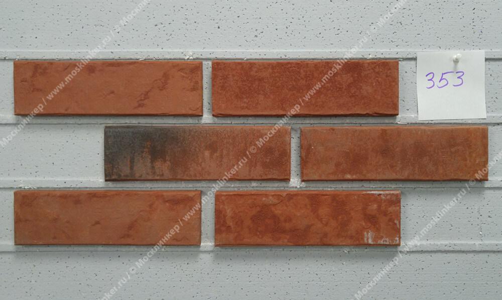 Stroeher - 353 eisenrost, Zeitlos, состаренная поверхность, ручная формовка, 240x71x14 - Клинкерная плитка для фасада и внутренней отделки