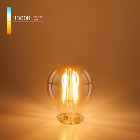 Филаментная светодиодная лампа A60 8W 3300K E27 Classic F 8W 3300K E27