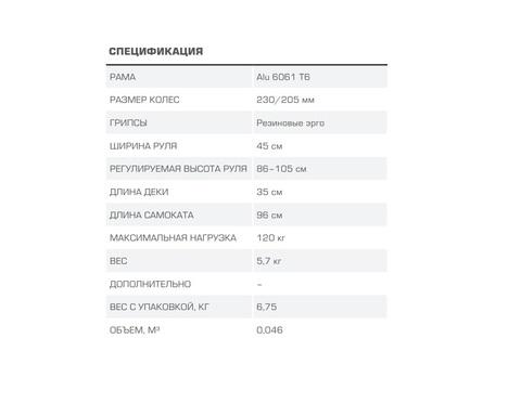 самокат Blade Sport FunTom 230 характеристики
