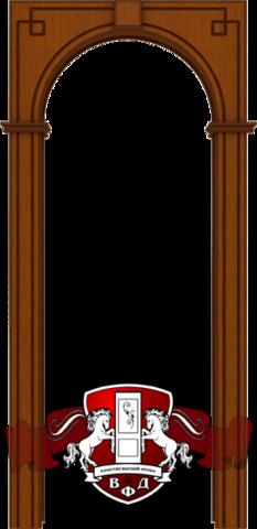 Арка межкомнатная шпонированная Владимирская фабрика дверей, Классика, цвет макоре