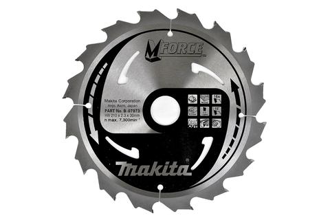 Пильный диск по дереву Makita M-FORCE 165х20х2 мм/16