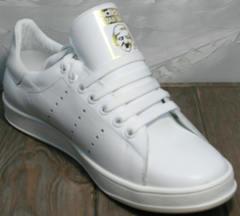 Стильные кроссовки для девушек Adidas Stan Smith White-R A14w15wg