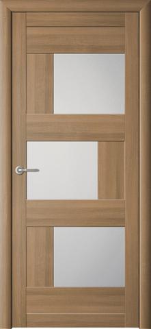 Дверь ALBERO Стокгольм (кипарис янтарный, остекленная экошпон), фабрика Фрегат