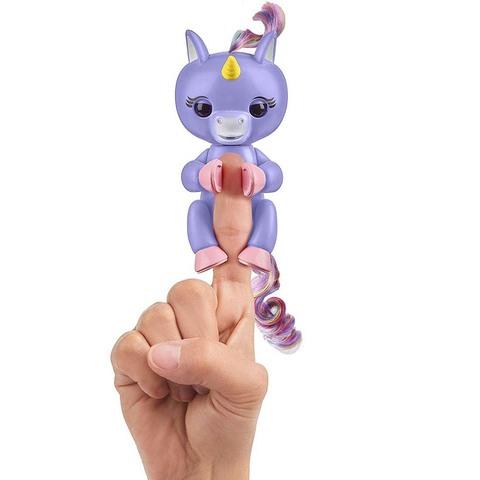 Фингерлингс Единорог Алика фиолетовый с радужной гривой и хвостом