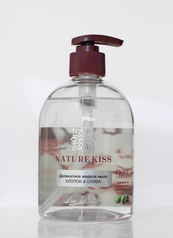 Liv delano Nature Kiss Деликатное жидкое мыло Хлопок & Олива 480мл