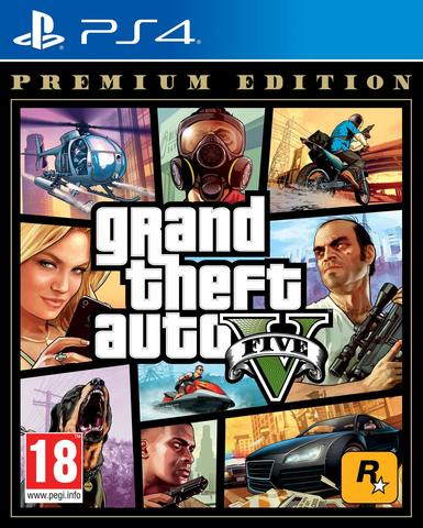 PS4 Grand Theft Auto V. Premium Edition (GTA 5) (русские субтитры)