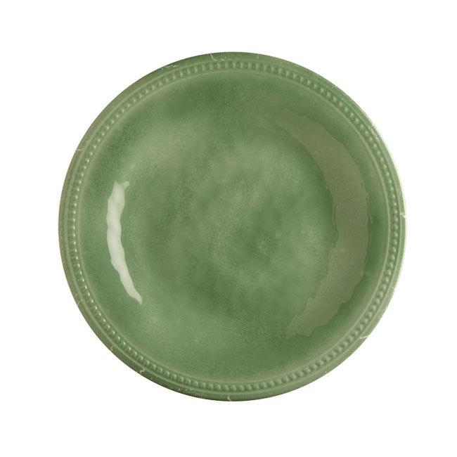 MELAMINE DESSERT PLATE, HARMONY MINT