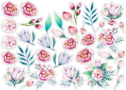 Печать на сахарной бумаге, Набор цветы 11