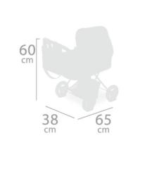 DeCuevas Коляска для куклы с рюкзаком серии Литл Пет, 60см (85039)