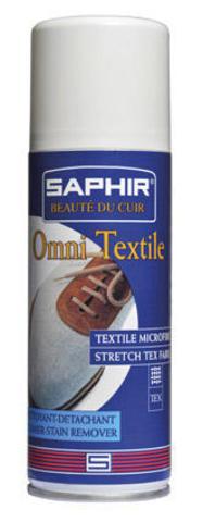 Аэрозоль очиститель для текстиля, трикотажа, синтетики sphr0394 Saphir Nettoyant Textiles&Stretch, 200 мл.