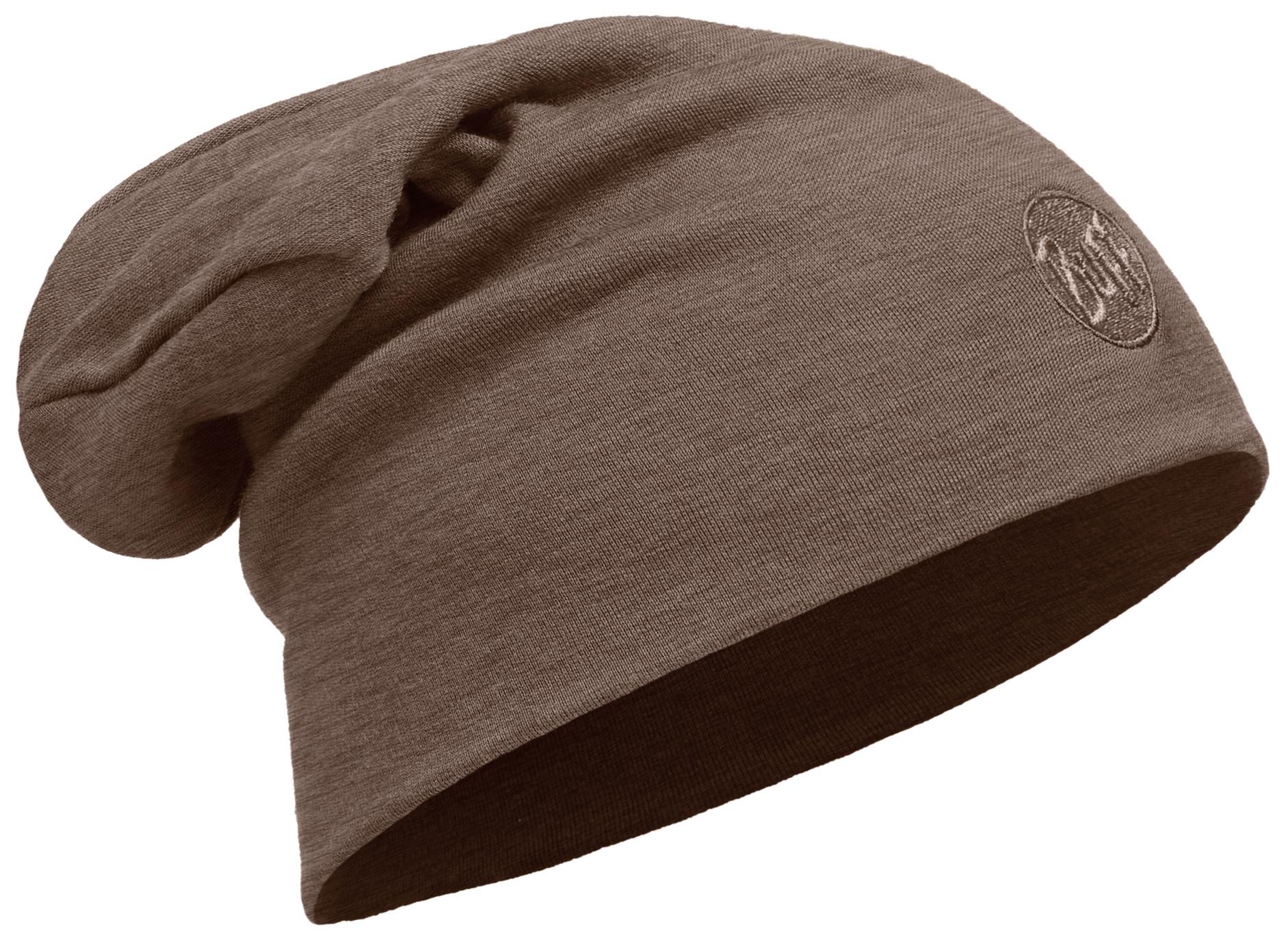 Шерстяные шапки Теплая шерстяная шапка-бини Buff Solid Walnut Brown 111170.327.10.00.jpg