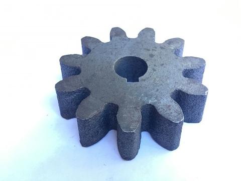 Шестерня привода барабана бетономешалки: вал 15 мм; Z-11; высота зуба 18 мм