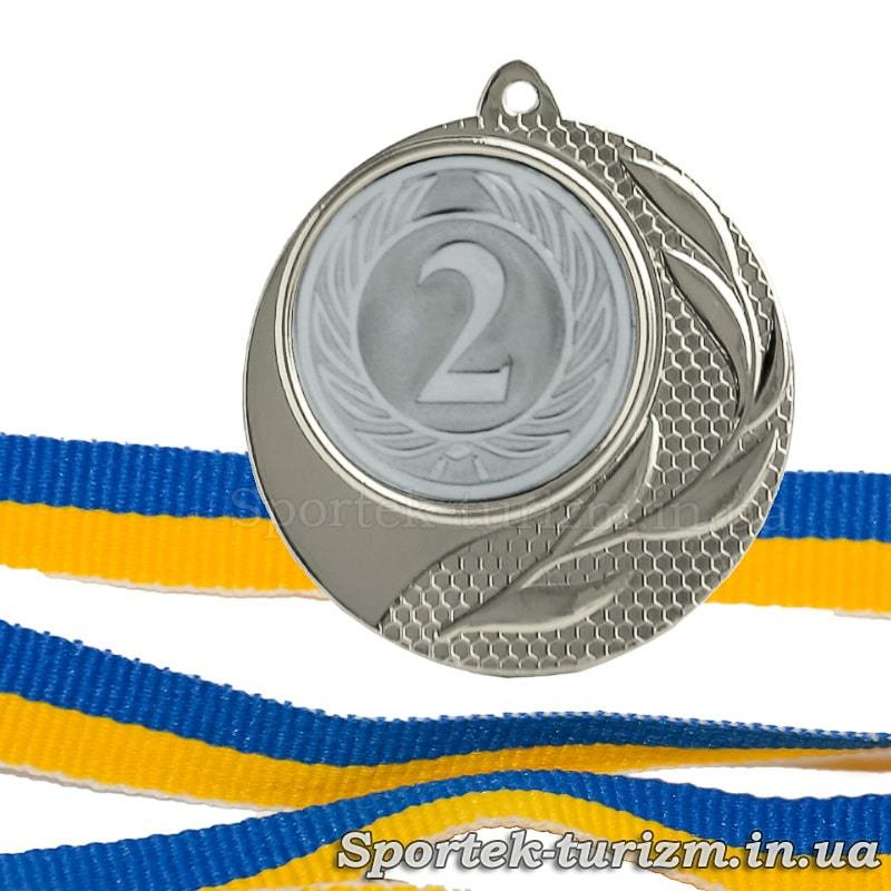 Серебряная медаль за 2 место диаметром 40 мм