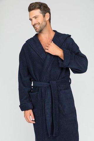 Мужской махровый халат с капюшоном 903