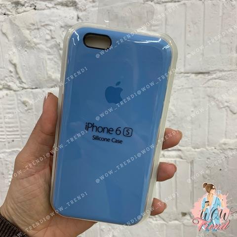 Чехол iPhone 6+/6s+ Silicone Case /cornflower/ синие сумерки 1:1