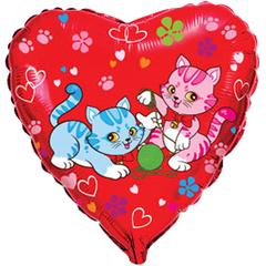 F Сердце Милые котята, 18