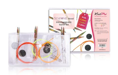 KnitPro Symfonie Wood Starter Набор сменных спиц