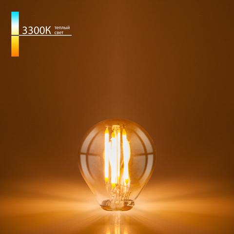 Филаментная светодиодная лампа G45 6W 3300K E14 Classic F 6W 3300K E14
