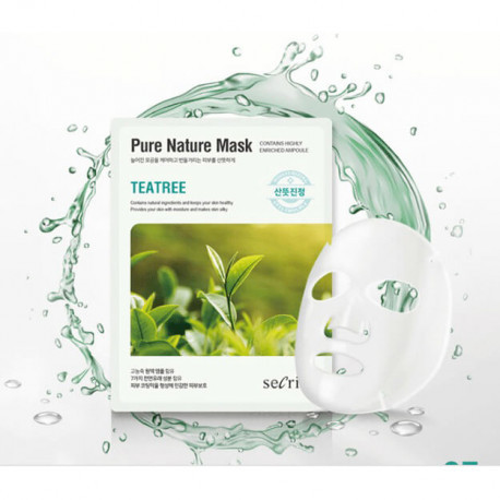 Тканевые маски Маска для лица тканевая ANSKIN Secriss Pure Nature Mask Pack-Teatree 25 мл anskin-secriss-pure-nature-mask__8_.jpg