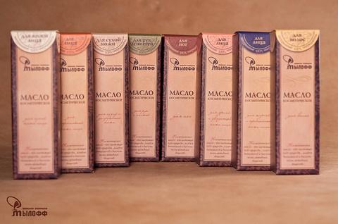 Масло косметическое Для сухой и загрубевшей кожи с эфирными маслами, экстрактами ромашки и календулы и витамином Е, 50 мл, ТМ Мылофф