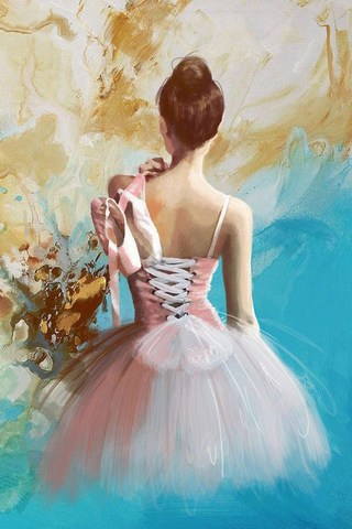 Алмазная Мозаика 40x50 Балерина