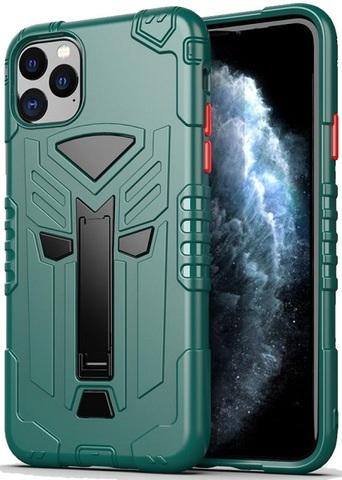 Чехол для iPhone 11 Pro Max серии Dual X с магнитом и складной подставкой, зеленого цвета, Caseport
