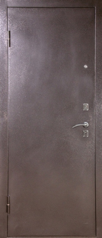 Дверь входная S-4 стальная, дуб седой, 1 замок, фабрика Арсенал