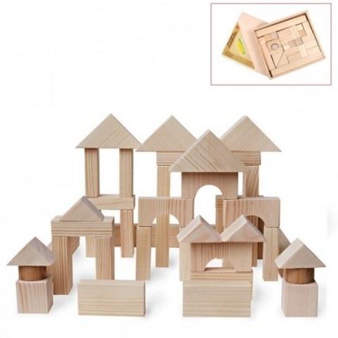 Конструктор Paremo Деревянный 51 деталь неокрашенный в деревянном ящике PE117-7