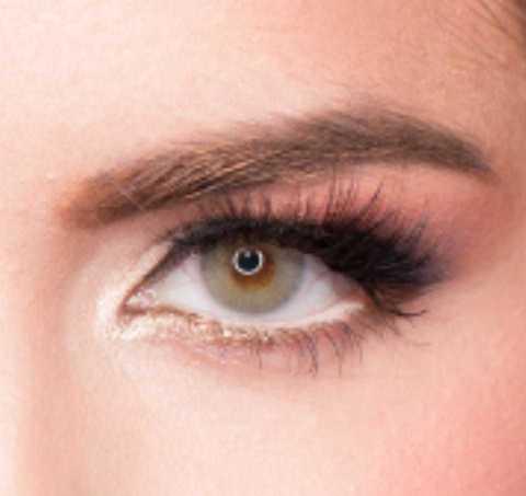 цветные линзы серо-зеленые для темных карих глаз MARQUISE