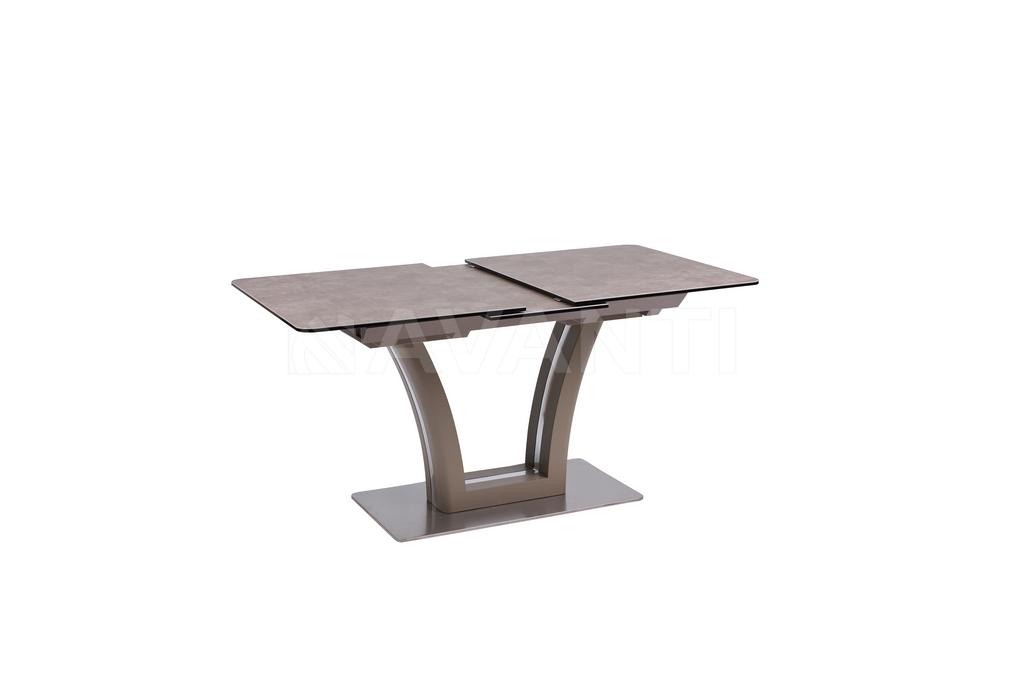 Стол обеденный FUSION (140) MATT MOKKA/LATTE (сатин мокка/латте)