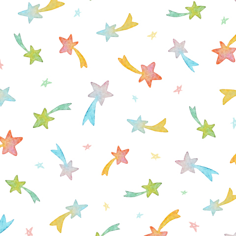 Разноцветные звездочки на белом фоне