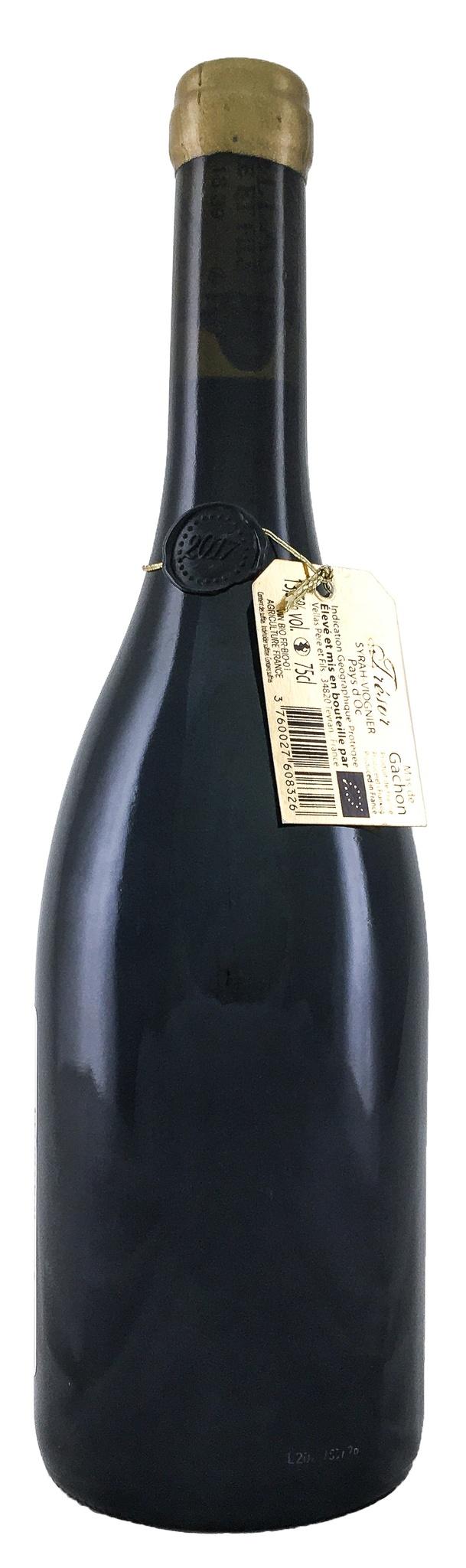 Вино Ма де Гашон Трезор Сира-Вионье сухое красное  з.г.у. категория IGP рег. Лангедок (Oc) 0,75л.