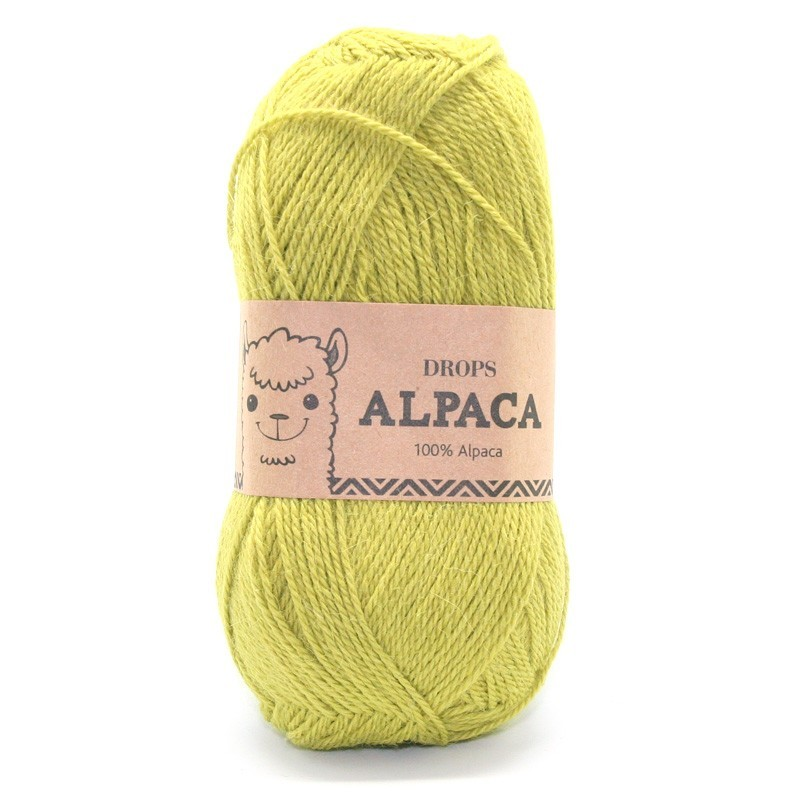 Пряжа Drops Alpaca 2916 темный лайм