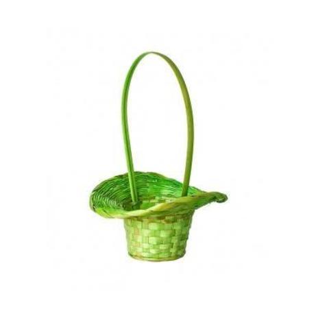 Корзина плетеная Шляпа (бамбук), D13х9хH31см, зеленый