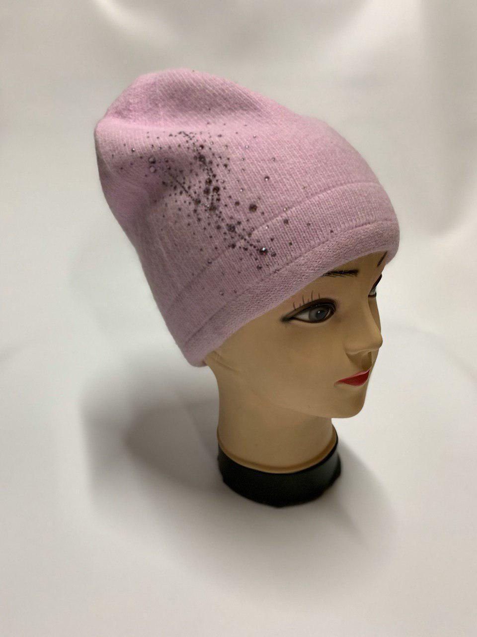 Женская шапка розовая SH H9509-1A