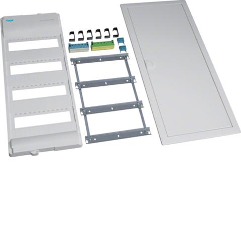 Съемный пакет,Volta,комплект без основания, 4-рядного, RAL9010