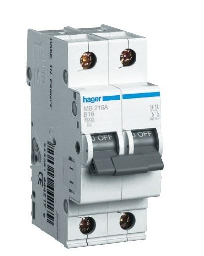 Автоматический выключатель 2P 4,5kA C-40A 2M