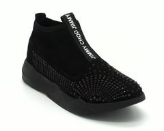 Черные кроссовки на платформе