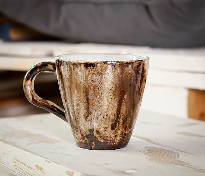 CUP106 Красивая кружка из глины для чая и кофе ручной работы (180 мл) фото 02