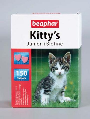 12508 Беафар Витамин Китти Юниор Cердечки д/котят 150таб.*12*144