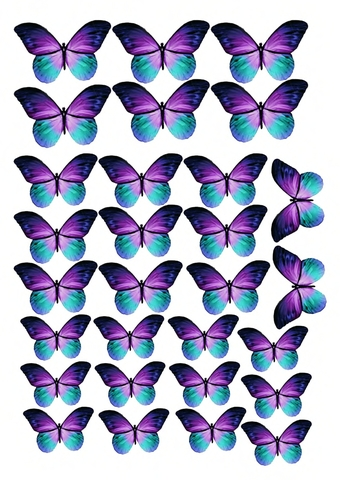 Печать на сахарной бумаге, Набор Бабочки 7
