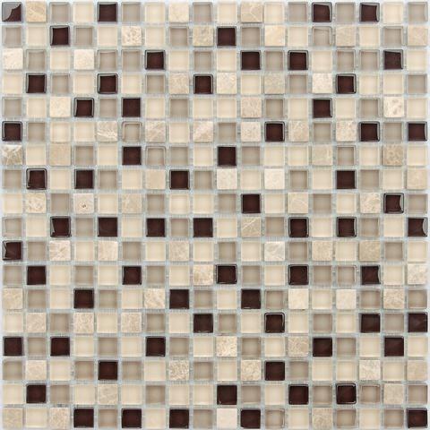 Мозаика стеклянная с камнем Island 15x15x8 305х305