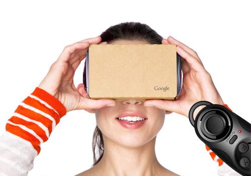 Комплект: Google Cardboard v.2 + Bluetooth джойстик