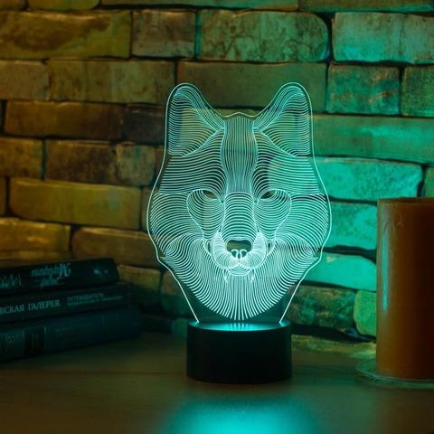 3D светильник Волк