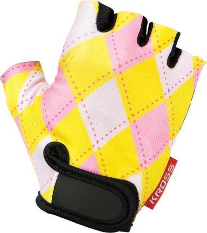 Перчатки JOY XS желто-розовые