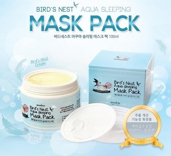 Ночная маска на основе ласточкиного гнезда IMSELENE KOREA BIRD'S NEST AQUA SLEEPING MASK PACK (100ml)