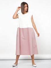 Платье контрастное 667-6